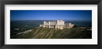 High angle view of a fort, Crac Des Chevaliers Fortress, Crac Des Chevaliers, Syria Fine-Art Print