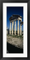 Old ruins of a built structure, Entrance Columns, Apamea, Syria Fine-Art Print