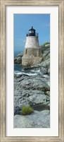 Lighthouse along the sea, Castle Hill Lighthouse, Narraganset Bay, Newport, Rhode Island (vertical) Fine-Art Print