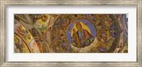 Fresco on the ceiling of a monastery, Rila Monastery, Bulgaria Fine-Art Print