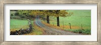 Highway passing through a landscape, Old King's Highway, Woodstock, Vermont, USA Fine-Art Print
