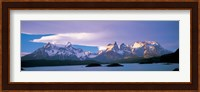 Clouds over snow covered mountains, Towers Of Paine, Torres Del Paine National Park, Patagonia, Chile Fine-Art Print