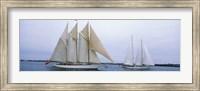 Sailboats in the sea, Narragansett Bay, Newport, Newport County, Rhode Island, USA Fine-Art Print