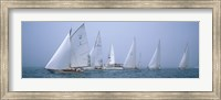 Yachts racing in the ocean, Annual Museum Of Yachting Classic Yacht Regatta, Newport, Newport County, Rhode Island, USA Fine-Art Print