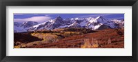Mountains covered with snow and fall colors, near Telluride, Colorado Fine-Art Print
