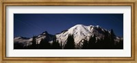 Star trails over mountains, Mt Rainier, Washington State, USA Fine-Art Print