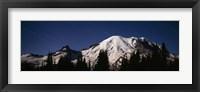 Star trails over mountains, Mt Rainier, Washington State, USA Fine-Art Print