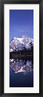 Reflection of Mt Shuksan, Picture Lake, North Cascades National Park, Washington State (vertical) Fine-Art Print
