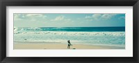 Surfer standing on the beach, North Shore, Oahu, Hawaii Fine-Art Print
