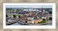 High angle view of a city, Stockholm, Sweden Fine-Art Print
