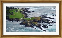 Golf course on an island, Pebble Beach Golf Links, Pebble Beach, Monterey County, California, USA Fine-Art Print