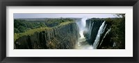 Looking down the Victoria Falls Gorge from the Zambian side, Zambia Fine-Art Print