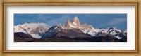 Snowcapped mountains, Mt Fitzroy, Cerro Torre, Argentine Glaciers National Park, Patagonia, Argentina Fine-Art Print