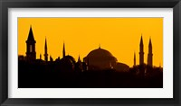 Silhouette of a mosque, Blue Mosque, Istanbul, Turkey Fine-Art Print