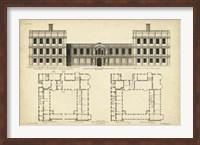 Elevation & Plan for Castle Abby Fine-Art Print