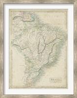 Map of Brazil Fine-Art Print