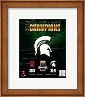 Michigan State Spartans 2014 Rose Bowl Champions Logo Fine-Art Print