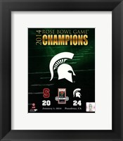 Michigan State Spartans 2014 Rose Bowl Champions Logo Fine-Art Print