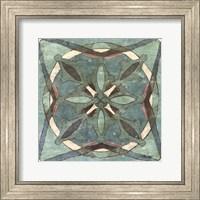 Tuscan Tile Blue Green II Fine-Art Print