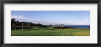 Waikoloa Golf Course at the coast, Waikoloa, Hawaii, USA Fine-Art Print