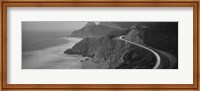Dusk Highway 1 Pacific Coast CA (black and white) Fine-Art Print