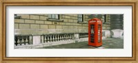 Telephone booth at the roadside, London, England Fine-Art Print