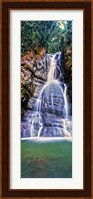 Waterfall in a forest, La Mina Falls, Caribbean National Forest, Puerto Rico Fine-Art Print