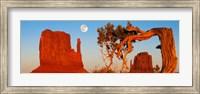 Rock formations, Monument Valley Tribal Park, Utah Navajo, San Juan County, Utah, USA Fine-Art Print