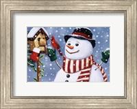 Snowman/Birdhouse Fine-Art Print