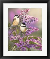 Lilacs and Chickadees Fine-Art Print
