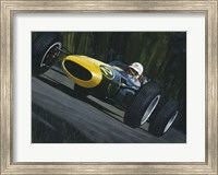 Blue Race Car Fine-Art Print