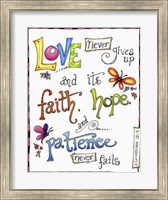 Words of Love - Never Fails Fine-Art Print