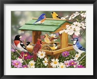 Backyard Birds Spring Feast Fine-Art Print