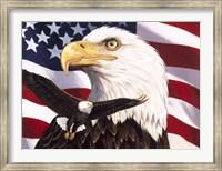 Eagle And Flag Fine-Art Print