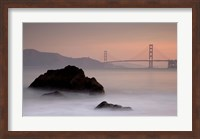 Rocks And Golden Gate Bridge Fine-Art Print