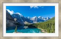 Moraine Lake at Banff National Park in the Canadian Rockies near Lake Louise, Alberta, Canada Fine-Art Print