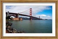 Golden Gate Bridge viewed from Marine Drive at Fort Point Historic Site, San Francisco Bay, San Francisco, California, USA Fine-Art Print