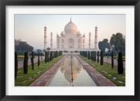 Reflection of a mausoleum in water, Taj Mahal, Agra, Uttar Pradesh, India Fine-Art Print