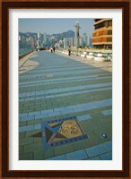 Plaque and Handprints of Jackie Chan, Avenue Of The Stars, Victoria Harbour, Kowloon, Hong Kong, China Fine-Art Print