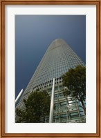 Trees in front of a building, Two International Finance Centre, Central District, Hong Kong Island, Hong Kong Fine-Art Print