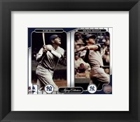 NY Yankees Legacy Collection #3 Babe Ruth & Mickey Mantle Fine-Art Print