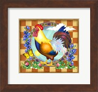 Morning Glory Rooster III Fine-Art Print