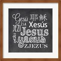 Jesus in Different Languages Chalkboard Fine-Art Print