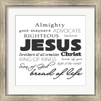 Jesus Christ White Fine-Art Print