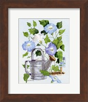 Watering Can And Morning Glories Fine-Art Print