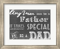 Any Man Can Be A Father Gray Fine-Art Print
