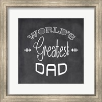 World's Greatest Dad - black Fine-Art Print