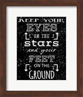 Keep Your Eyes On the Stars - black Fine-Art Print