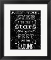 Keep Your Eyes On the Stars - black Fine-Art Print
