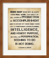 Seeming to Do is Not Doing - Thomas Edison Fine-Art Print